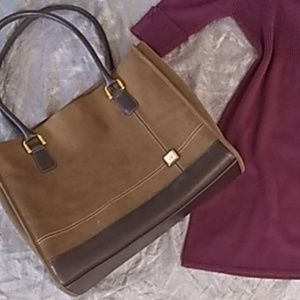 DVF brown canvas type of tote bag